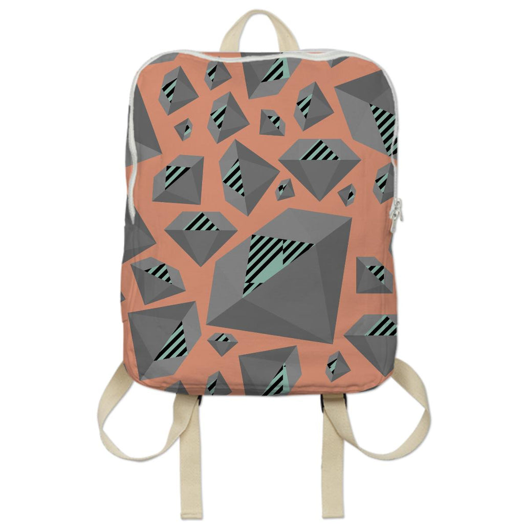 Mint Grey Diamond Bookbag