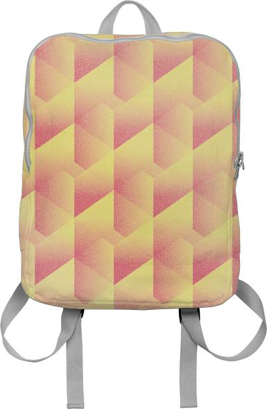 Geometric Pink Yellow BACKPACK