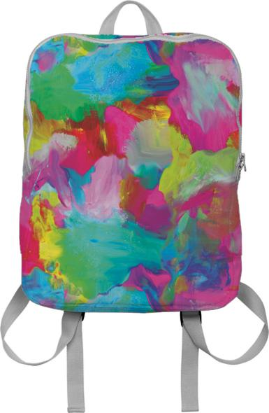 PAOM, Print All Over Me, digital print, design, fashion, style, collaboration, zoe-schlacter, zoe schlacter, Backpack, Backpack, Backpack, Abstract, Painting, autumn winter spring summer, unisex, Poly, Bags