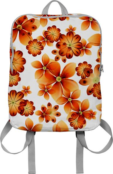 Burnt Flower Backpack by Valxart com