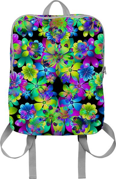 Circus Flowers backpack by valxart
