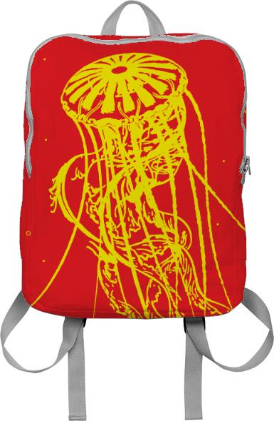 Deadly Jellyfish Backpack Red