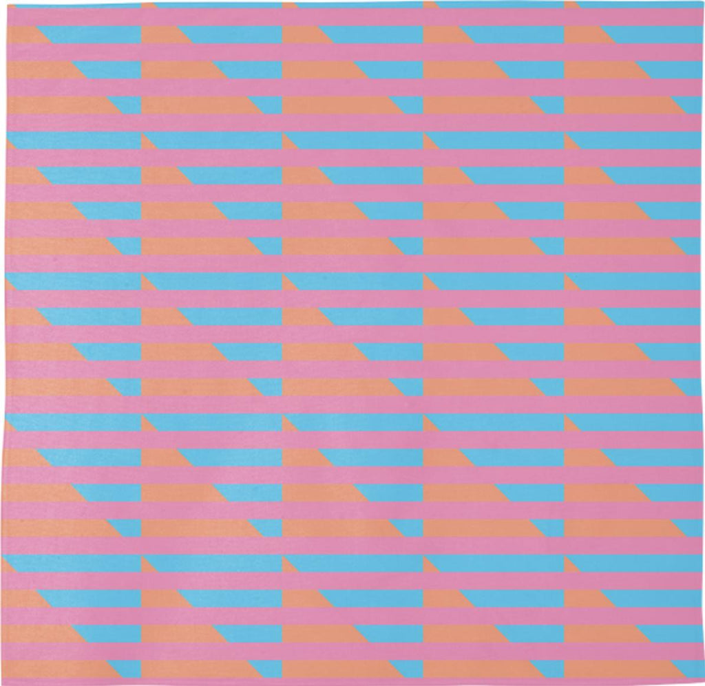 Peach Pink Blue Houndstooth