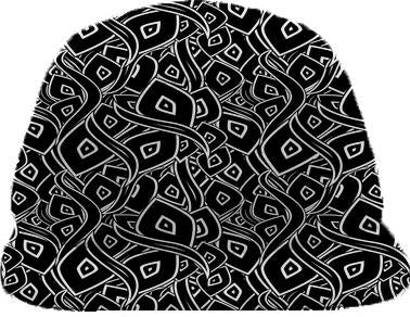 Abstract black and white leaves pattern