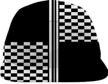 Black white quartered striped check