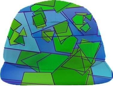 Green and Blue Geometric Abstract