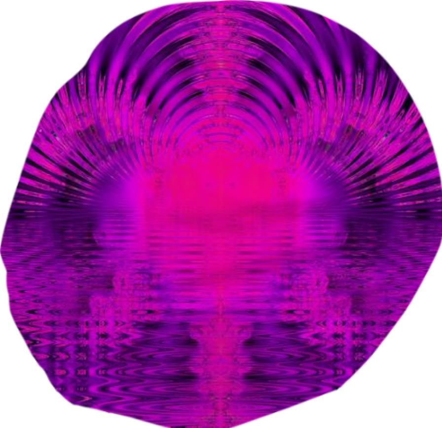 Abstract Violet Rose Tunnel of Light