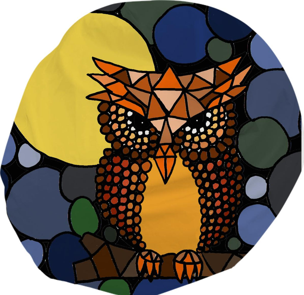 Awesome Owl Abstract Art Bean Bag