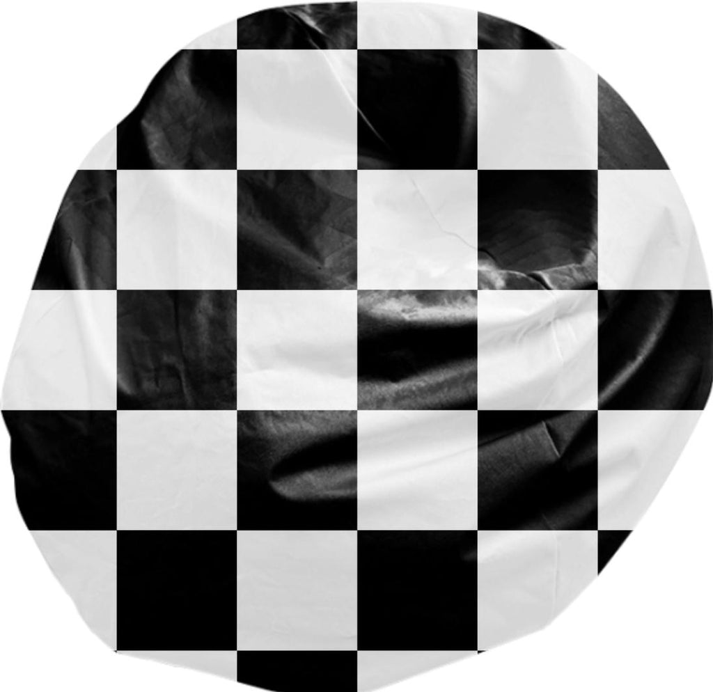 Black And White Checkered Bean Bag