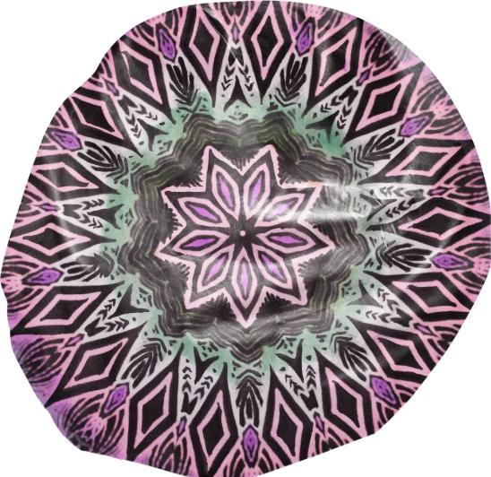 Purple mandala bean bag