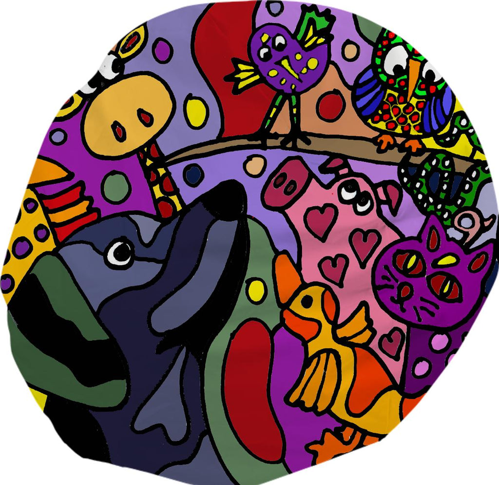 Wacky Animals Abstract Bean Bag