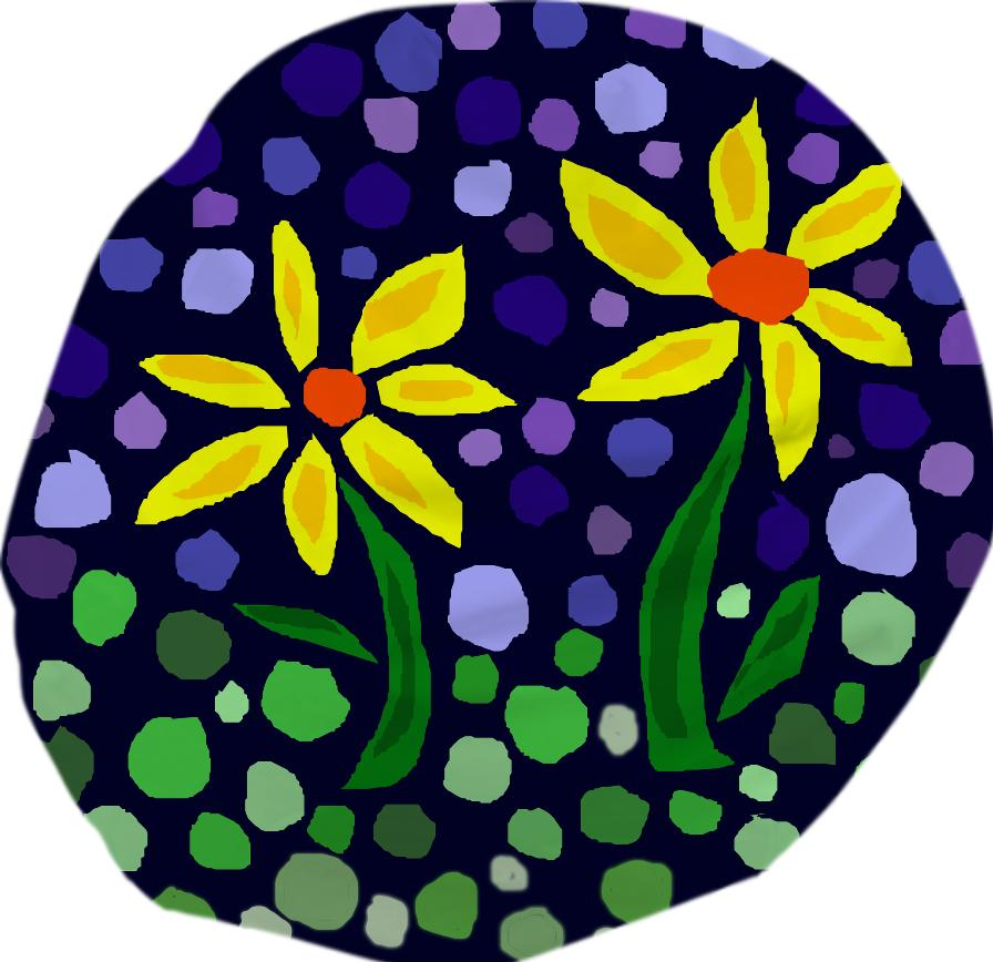 Yellow Daisies Floral Abstract Bean Bag