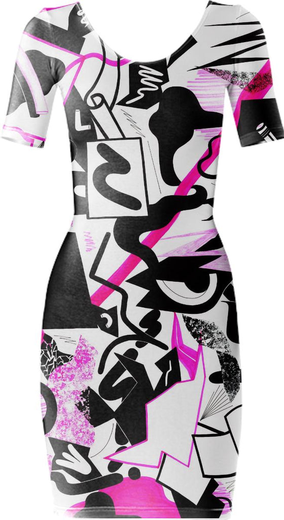 PAOM, Print All Over Me, digital print, design, fashion, style, collaboration, eddie-perrote, eddie perrote, Bodycon Dress, Bodycon-Dress, BodyconDress, autumn winter spring summer, unisex, Spandex, Dresses