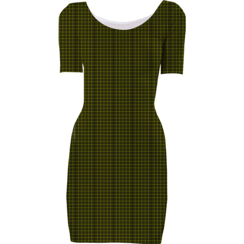 Black and Green Plaid Dress
