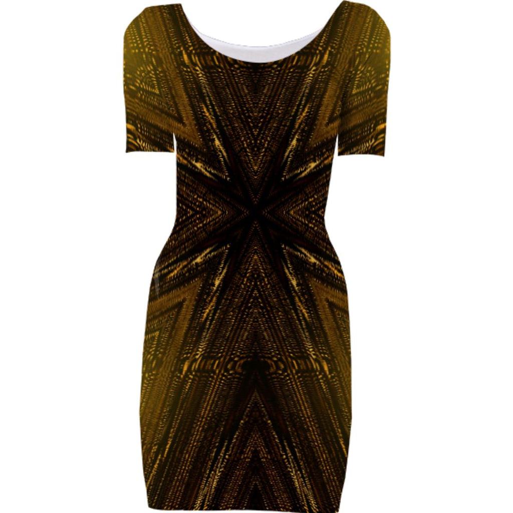Brown gold 1 Bodycon dress