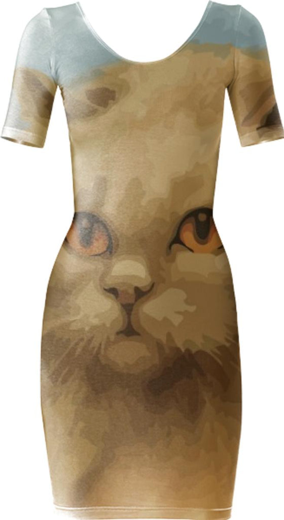 Cat Bodycon Dress