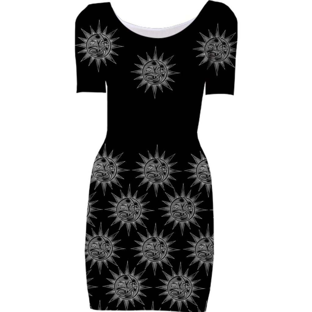 Celestial Sun Bodycon Dress