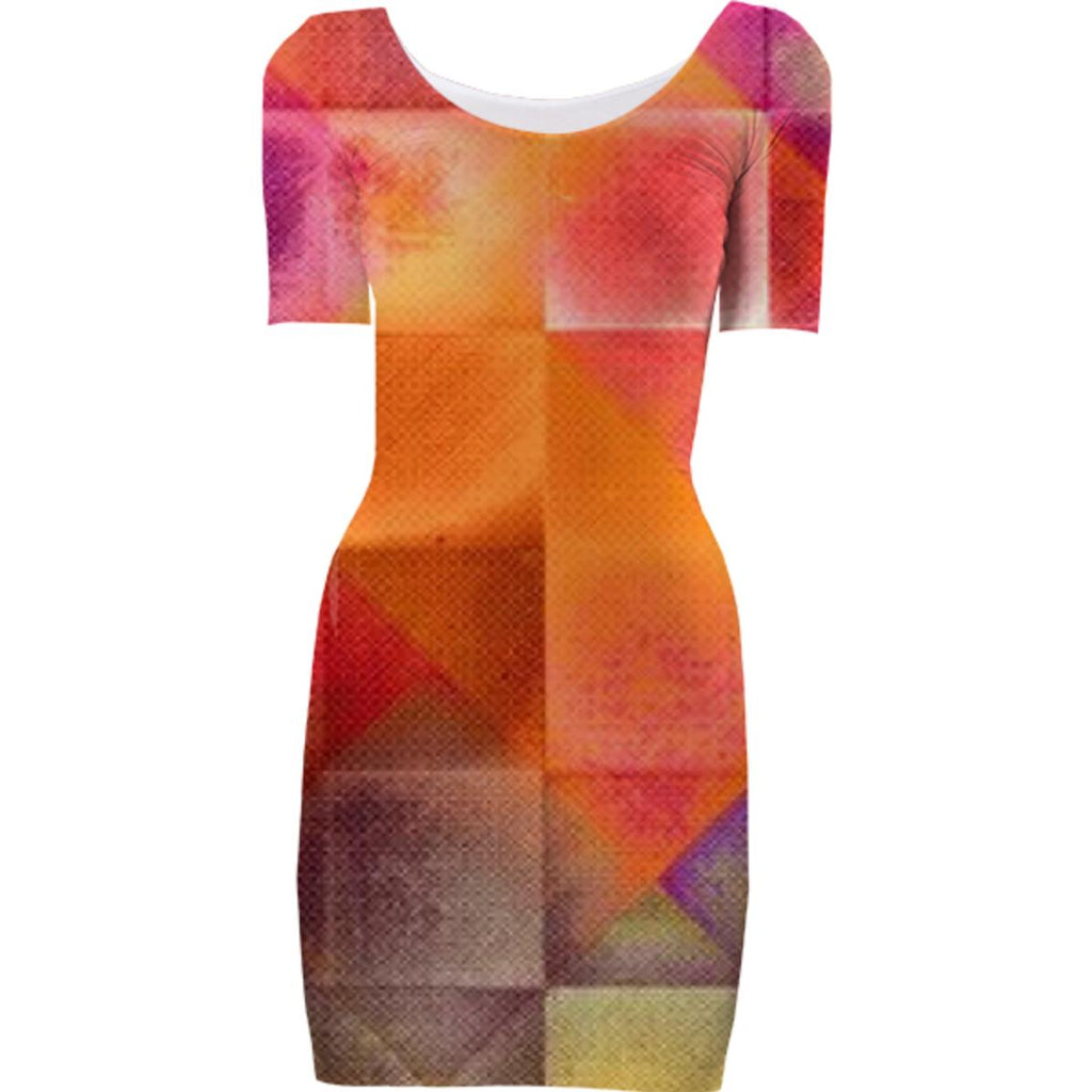 CHECKED DESIGN II v4 Bodycon dress