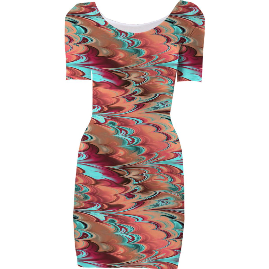 Color Swirls Bodycon Dress