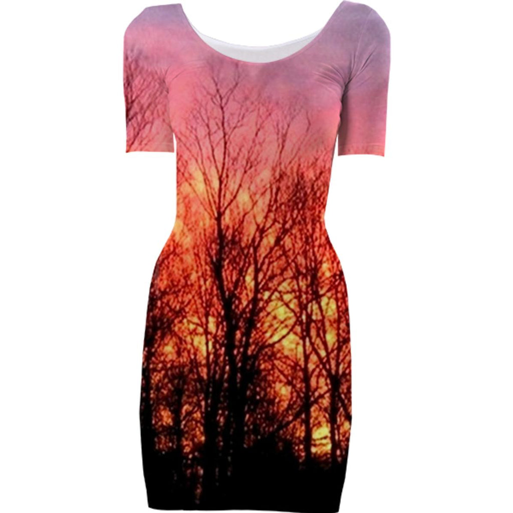Fire of Sunrise Bodycon Dress