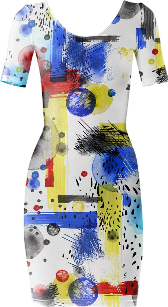 Geo Abstract Dress