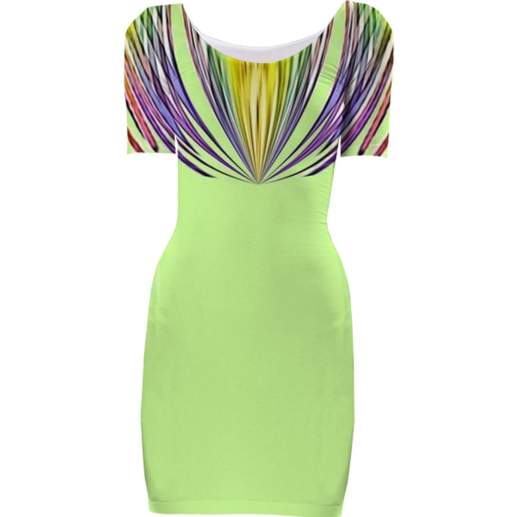 Green Stripe Top Bodycon Dress