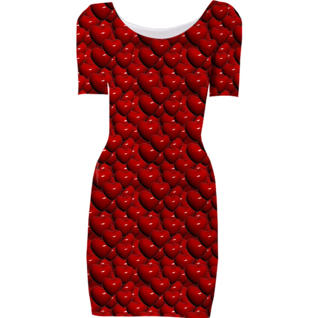 Hearts Bodycon Dress