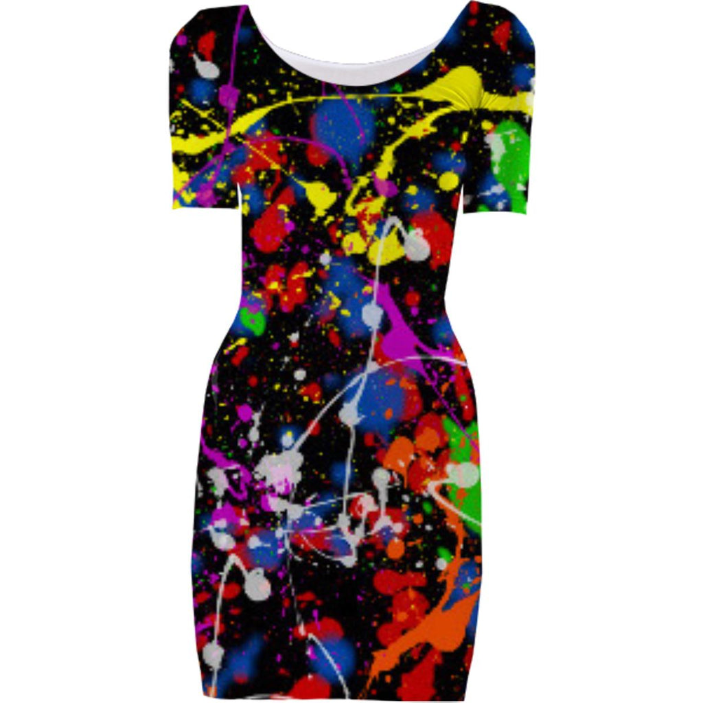Paint Splatter Bodycon Dress