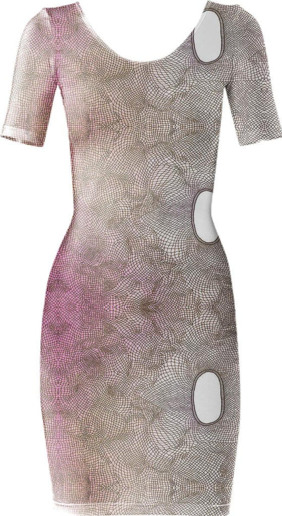 pink net burnout dress