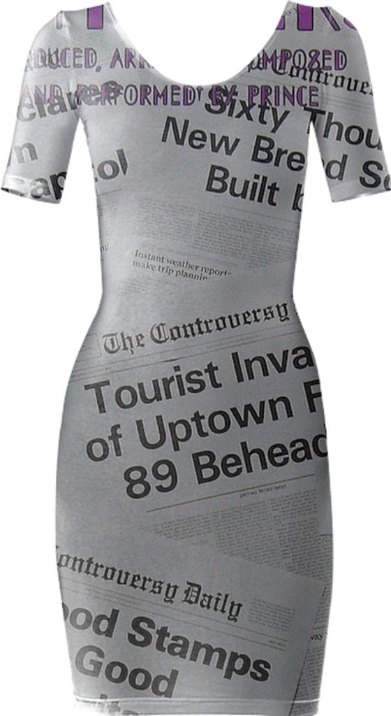 Prince Controversy Back Cover Bodycon Dress