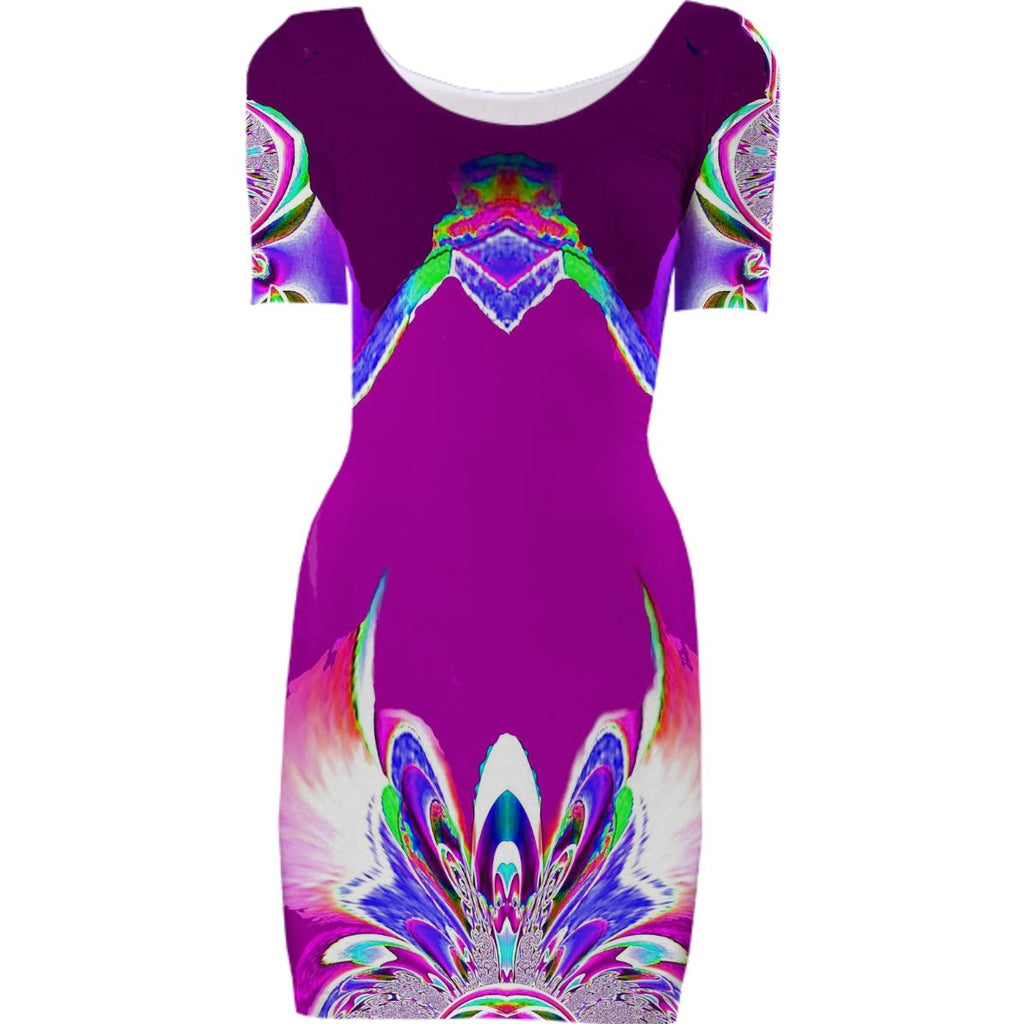 Purple Abstract Fantasy Bodycon Dress