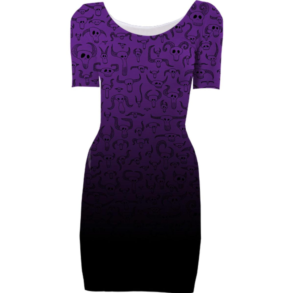 Skull Pattern Purple Dissolve Lower