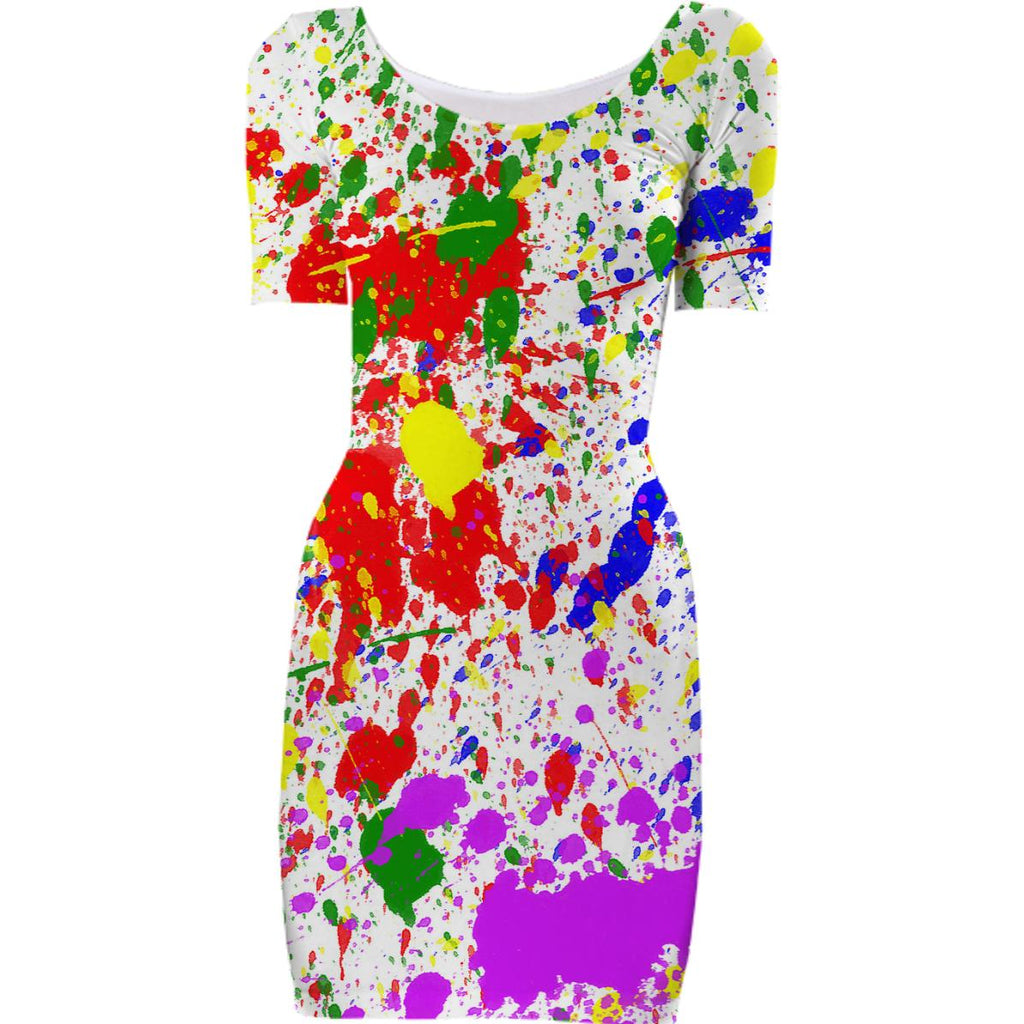 Splatter Bodycon Dress