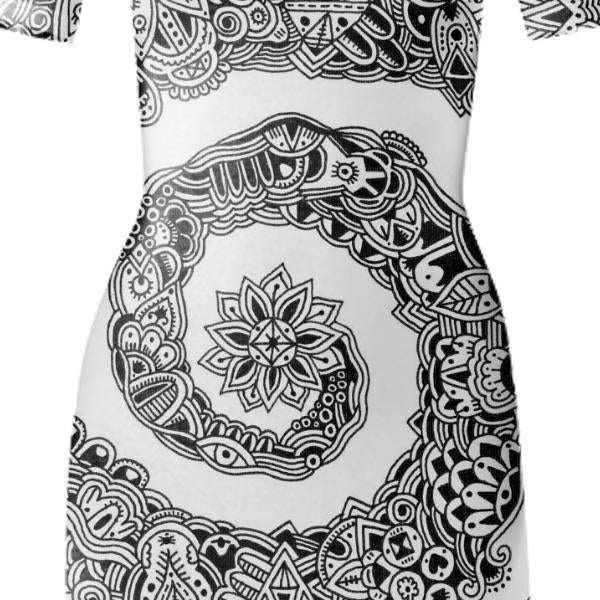 Swirl Bodycon Dress
