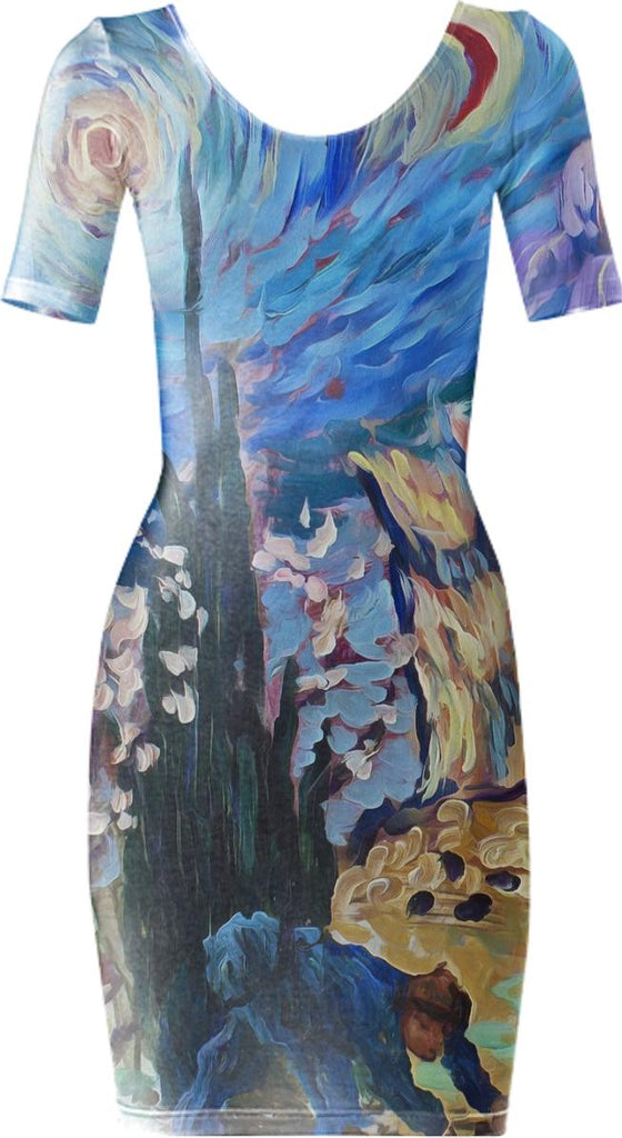 Van Gogh Spirit Bdycon Dress 1