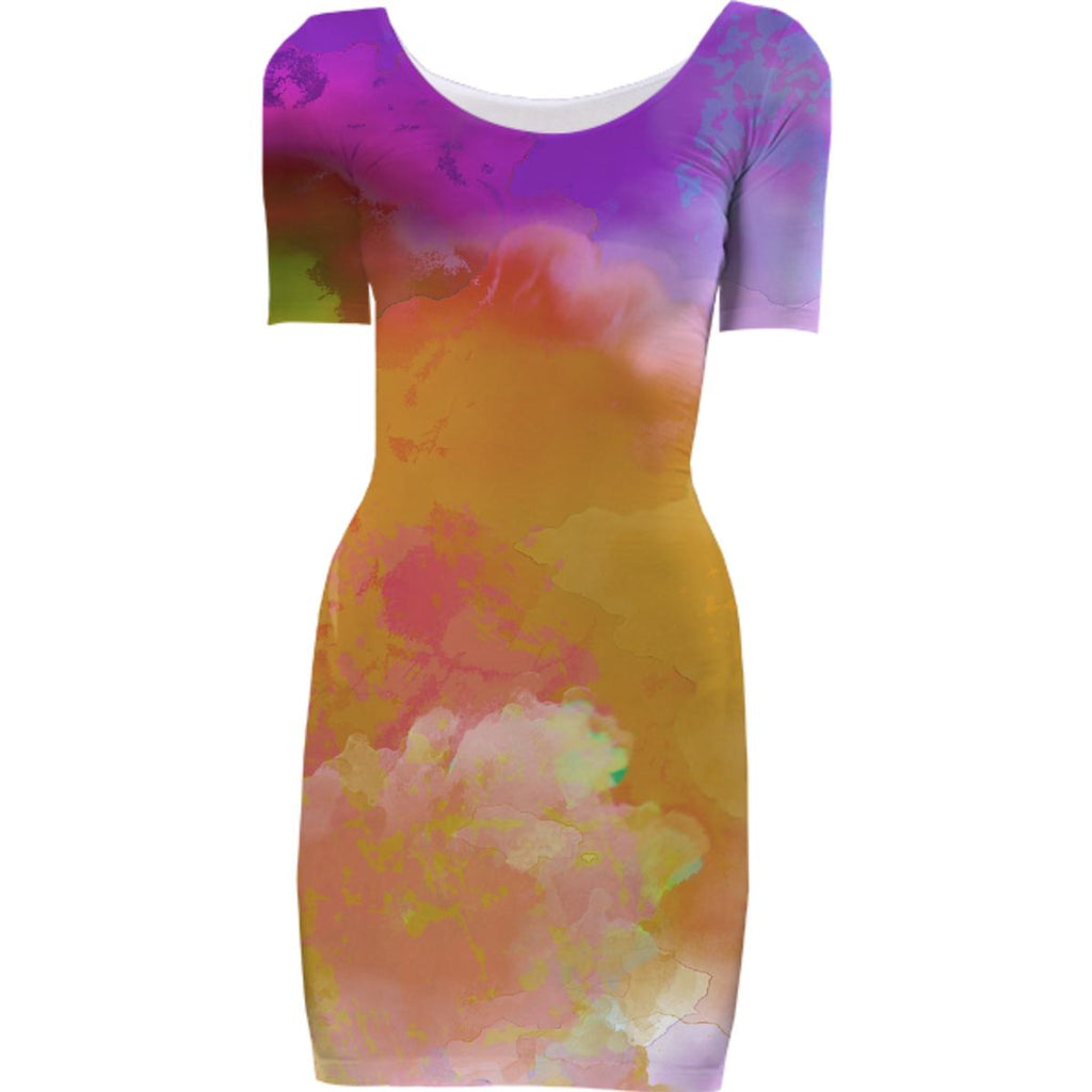 Watercolor Bodycon dress