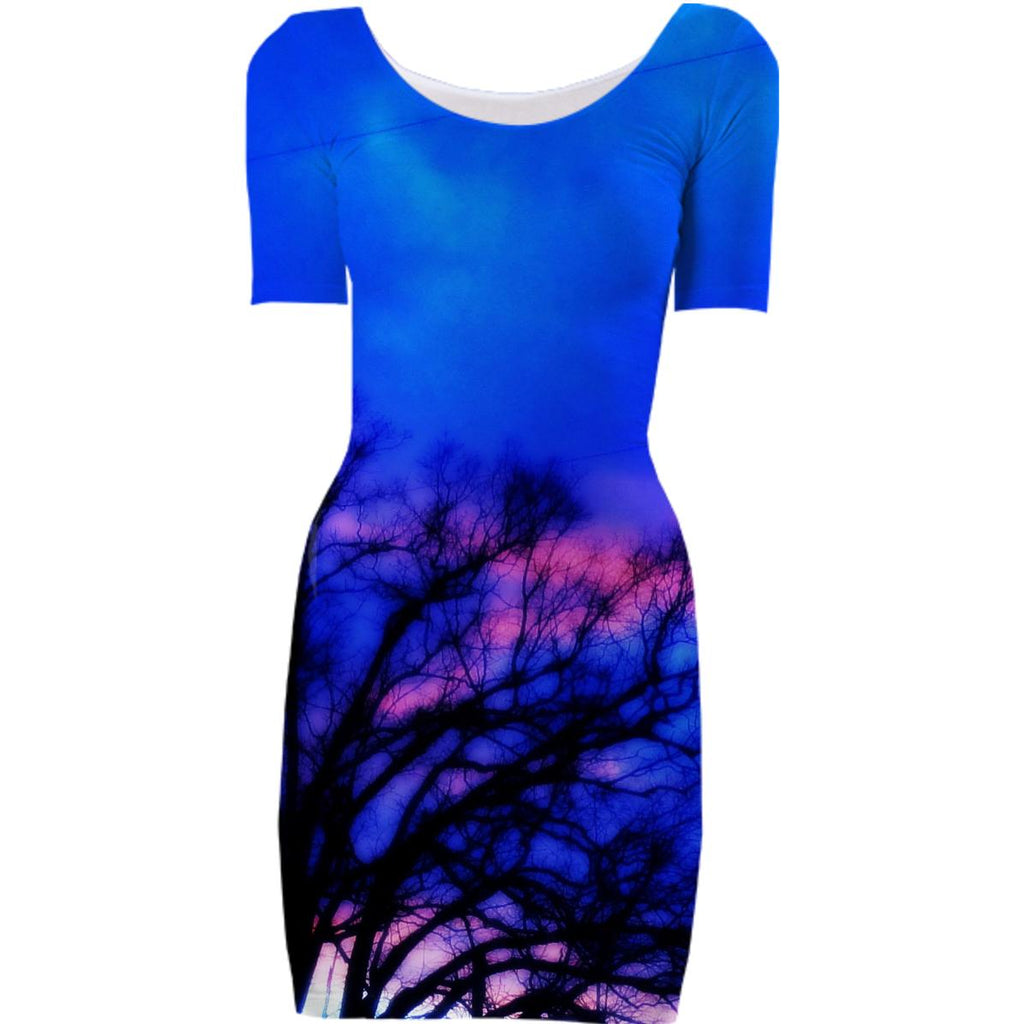 Winter Sky Bodycon Dress