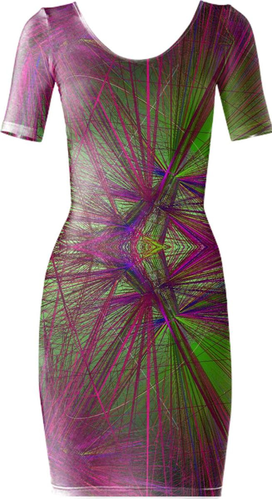 wireframe body con dress fg