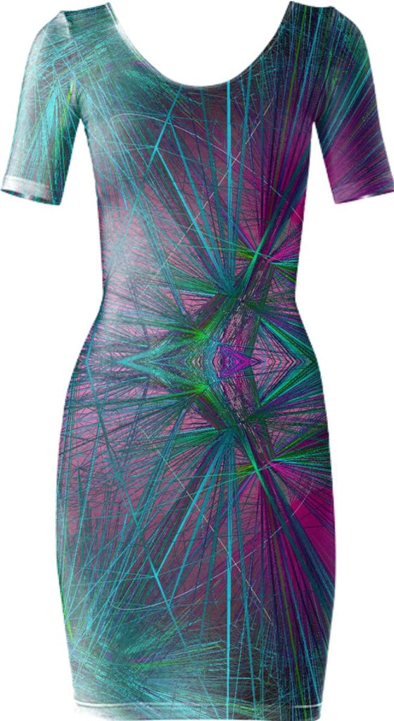 wireframe bodycon dress vb