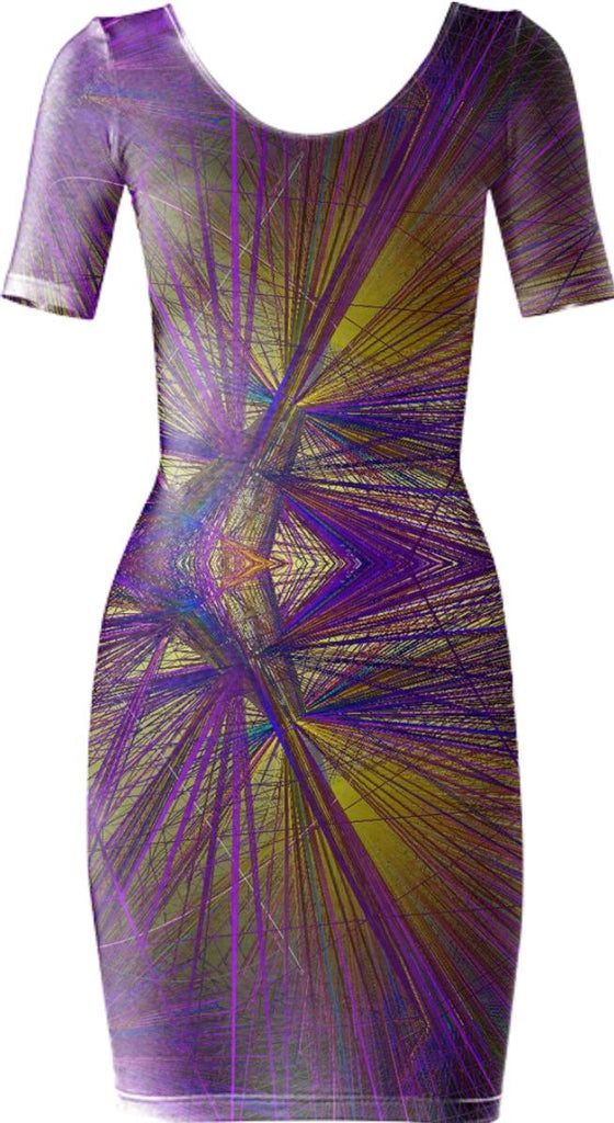 wireframe bodycon dress yp