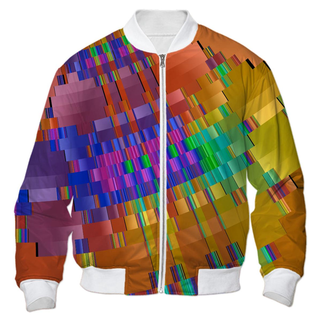 Destination Fracal Holiday Abstract Bomber Jacket