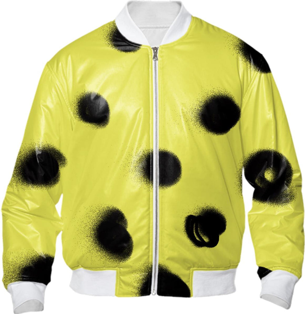 DOTS Bomber Jacket in Yellow