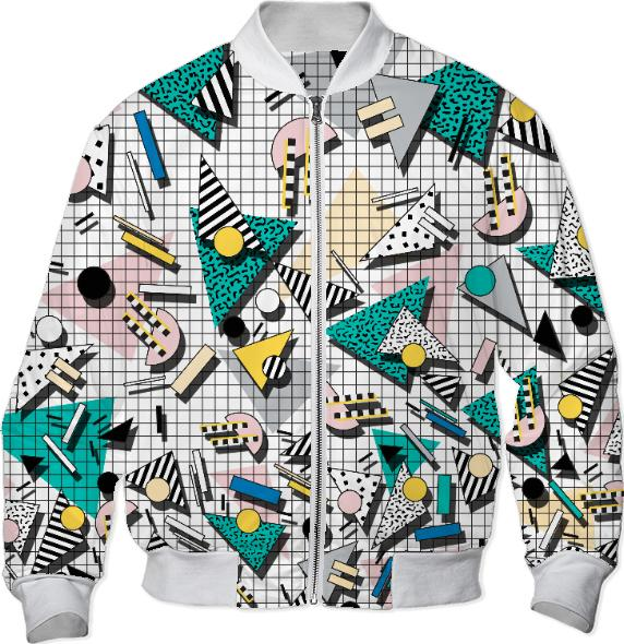 PAOM, Print All Over Me, digital print, design, fashion, style, collaboration, camille-walala, camille walala, Bomber Jacket, Bomber-Jacket, BomberJacket, WALALA, BOMBERJACKET, autumn winter, unisex, Nylon, Outerwear