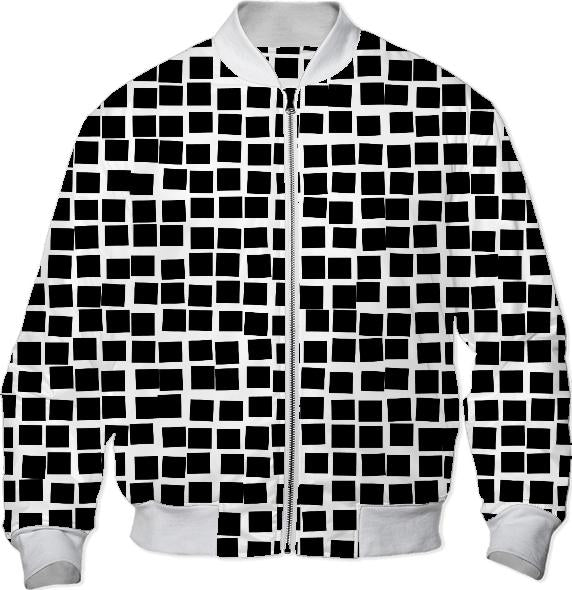 Black and White Mosaic Abstract