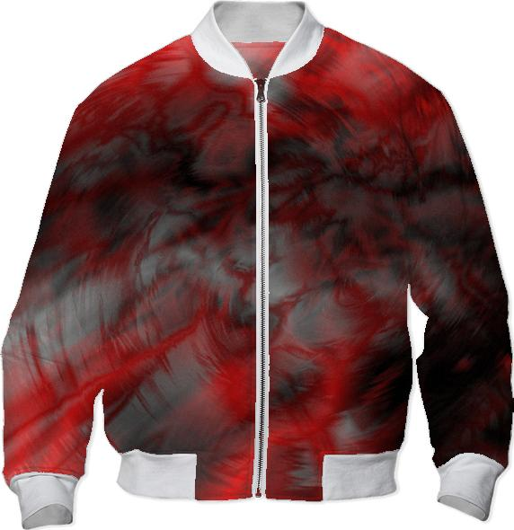 Bloody Mess bomber jacket by valxart