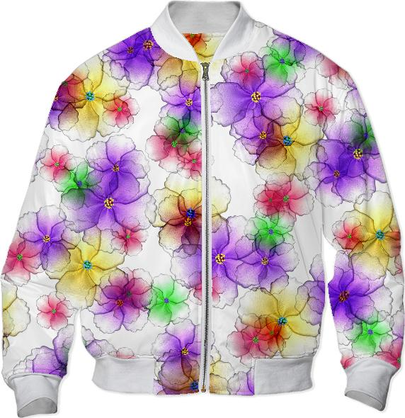 CANDY FLOWERS BOMBER JACKET