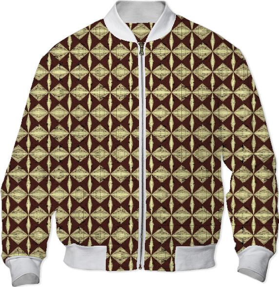 Diamondback Pattern in brown bomber jacket