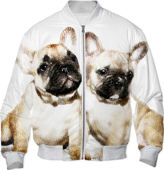 French Bulldogs Bomber Jacket