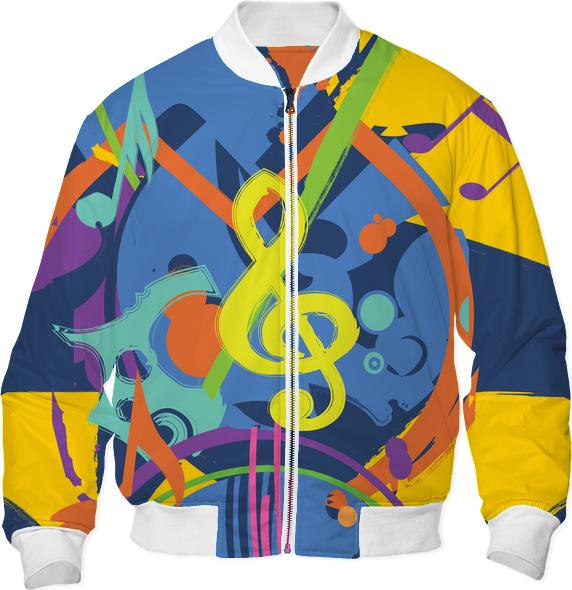 Painted bright abstract music design