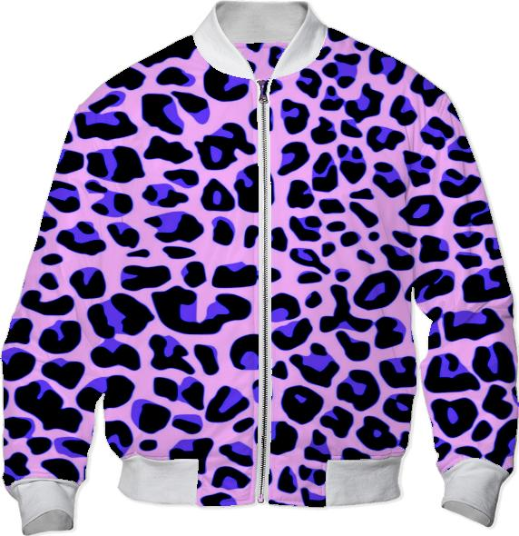 Pink and Blue Leopard Print